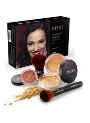 Sampure Minerals Complete Mineral Starter Face Makeup Set, 5-Pieces, 16gm, Medium, Multicolour
