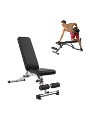Miracle Fitness Ergonomic Multi-Angle Adjustable Weight Bench, Black