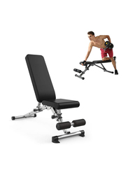 Miracle Fitness  Multi-Angle Adjustable Weight Bench, Black/Silver