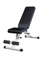 Fitness Crunches Abdominal Board Exercise Bench, Black/Silver