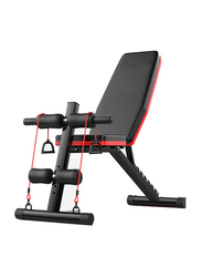 Miracle Fitness  Multifunction Gym Foldable & Adjustable Bench for Workout, Black