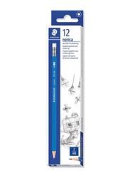 Staedtler 12-Piece Norica 132 Pencil Set with Rubber Tip, Black