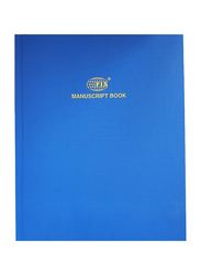 FIS Single Ruled Manuscript Book, 2 Quire, 8mm, 192 Sheets, 10 x 8 inch, Blue