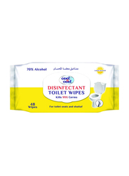 Cool & Cool Disinfectant Toilet Wipes, 48 Sheets