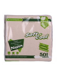 Soft n Cool Brown Napkin, 50 Pieces