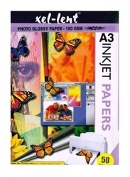 Xellent Glossy Paper, 50 Sheets, 180 GSM, A3 Size