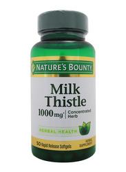 Nature's Bounty Milk Thistle, 1000mg, 50 Softgels