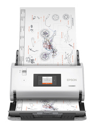 Epson WorkForce Sheetfed Large Format Scanner, DS-30000, White