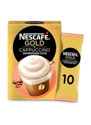 Nescafe Cappuccino Unsweetened Taste Coffee Mix, 10 Sachets x 14.2g