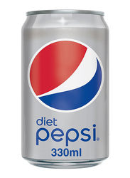 Pepsi Diet Soft Drink Can, 330ml