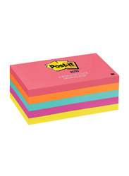 Post-it Cape Town Collection Sticky Notes, 7.62 x 12.7 cm, 5 x 100 Sheets, Multicolour