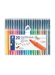 Staedtler Triplus Fiber-Tip Coloured Pen Set, 20 Pieces, Multicolour