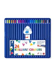 Staedtler 24-Piece Ergosoft Aquarell Triangular Watercolour Pencil Set, Multicolour
