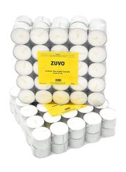 Zuvo Tea Light Candle Set, 50-Piece, White