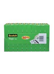 Scotch Magic Tape, 3/4 x 1000 inches, 20 Pieces, Clear