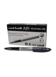 Uniball 12-Piece Air Medium Rollerball Pen Set, 0.7mm, Black