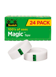 Scotch Brand Magic Tape with Dispenser Set, 17 Pieces, Multicolour