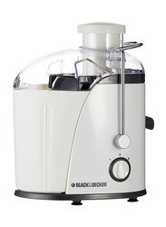 Black+Decker Juicer Extractor with Wide Chute, 1.3 Litre, JE400-B5, 400W, White