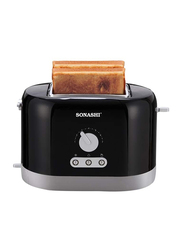 Sonashi 2 Slice Bread Toaster, ST-209, Black