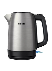 Philips Daily Collection Electric Stainless Steel Kettle, 1850-2200W, 1.7 Liters, HD9350, Silver/Black