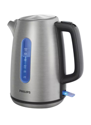 Philips Viva Collection Electric Stainless Steel Kettle, 2200W, 1.7 Liters, HD9357, Silver/Black