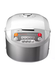 Philips Viva Collection Fuzzy Logic Rice Cooker, HD3038, White/Grey