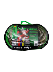 Car Mart Heavy Duty Booster Jumper Cable, 300 AMP, Clear/Red/Black