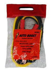 Car Mart 100% Copper Car Booster Cable, 2.5 Meters, 600AMP, Yellow/Black