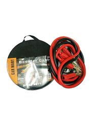 Car Mart Heavy Duty Booster Cable Round Packing, 600 AMPS, Red/Black