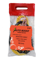 Car Mart 100% Copper Car Booster Cable, 2.2 Meters, 300AMP, Yellow/Black