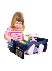 Bundaloo Snack n Play Tray for Kids, Navy Blue