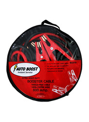 Car Mart Car Booster Auto Boost Extra Flexible Color Coded Cable, 800/1000 AMP, 2.5/3 Meters, Red/Black