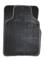 Car Mart Universal Cashmere Magic Backing Mat, 5 Pieces, Black