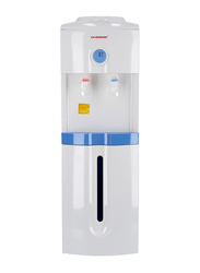 Olsenmark Top Load Hot & Cold Water Dispenser with Refrigerator Cabinet, Cup Holder, OMWD1732, White/Blue