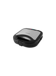 Olsenmark Non-Stick Coated with Overheat Protection Sandwich Maker, 750W, OMGM2321, Silver/Black