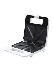 Olsenmark 2 Slice Sandwich Maker with Non-Stick Coating, OMSM2404, White
