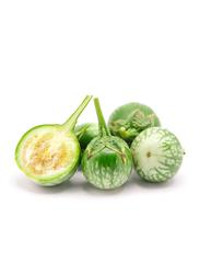 Desert Fresh Organic Eggplant Green Round UAE, 500g