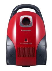 Panasonic 1400-Watt Canister Vacuum Cleaner, MC-CG521R747, Red