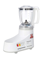 Panasonic 3-Jar Mixer & Grinder, 550W, MX-AC300, White