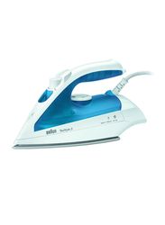 Braun TexStyle 3 Steam Iron, 1700W, TS340, White/Blue
