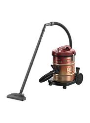 Hitachi 2100-Watt Drum Type Vacuum Cleaner, CV950F 24CBS WR, Brown/Red