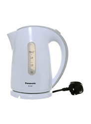 Panasonic 1.7L Electric Plastic Kettle, 2200W, NC-GK1W, White/Grey