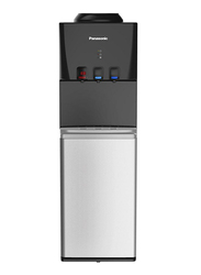 Panasonic Top Load Hot & Cold Water Dispenser, Child Lock, Storage Cabinet, SDM-WD3128TG, Black/Silver
