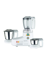 Panasonic 3-Jar Blender & Grinder, 550W, MXAC300, White
