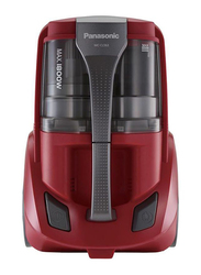 Panasonic 1800-Watt Bag Less Canister Vacuum Cleaner, MCCL563R747, Red