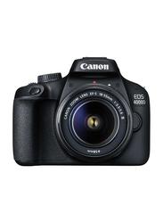 Canon EOS 4000D DSLR Camera, 18MP, Full HD, EF-S 18-55mm IS II Lens Kit, Black