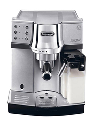 Delonghi Automatic Cappuccino Metal Pump Coffee Machine, with Simple Touch Milk Carafe, EC850, Grey/Black