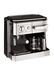 Delonghi Combi 2-In-1 Espresso Coffee Maker, BCO420, Black/Silver