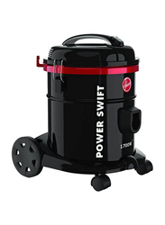 Hoover 1700-Watt Power Swift Tank Drum Vacuum Cleaner, with Blower Function, 15L HT85-T0-ME, Black