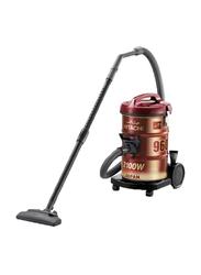 Hitachi 2100-Watt Drum Vacuum Cleaner, CV-960F 240C, Wine Red/Black